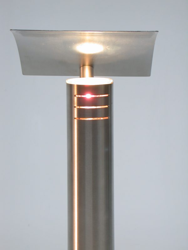 'Rex' Slim Stainless Steel Table Light- Front View
