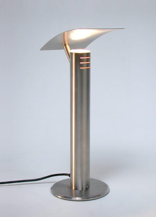 'Rex' Slim Stainless Steel Table Light- full view