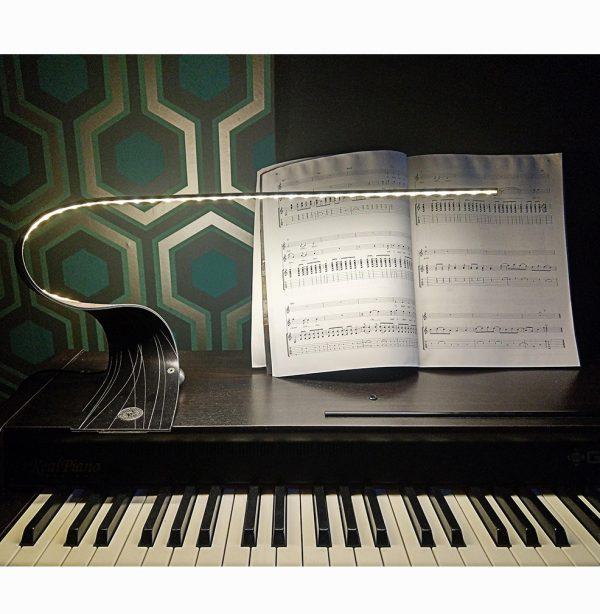 Ruray Sculptural LED Desk Light-interior shot piano