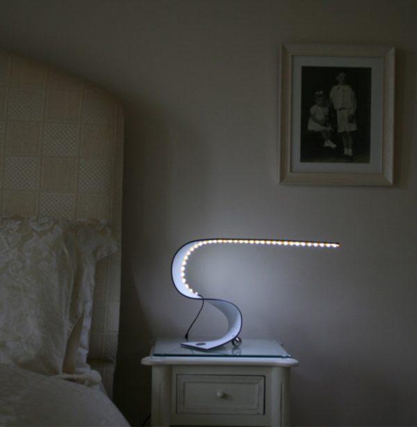 Ruray Sculptural LED Desk Light-interior shot bedroom